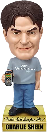 Charlie Sheen - Talking Bobble Head-FUN2449