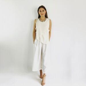 3-1-Phillip-Lim-Silk-Ivory-Sequin-Tunic-Top-Women-039-s-Size-6