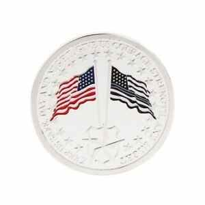 Patron-of-Police-Saint-Michael-America-Flag-Commemorative-Coin-Souvenir-Silver