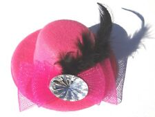 NEW PINK Goth Victorian Masquerade SteamPunk Mini Clip-On Top Hat ACCESSORIES