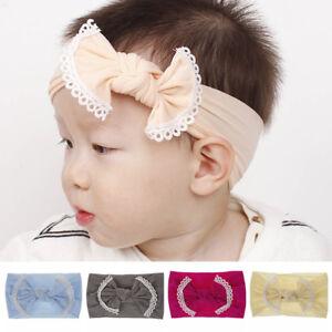 Bunny-Rabbit-Elastic-Hair-Band-Bows-Turban-Baby-Nylon-Headband-Bowknot