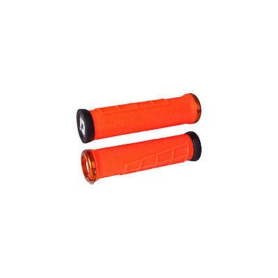 ODI Elite Flow Lock-On Grips Orange with Orange Clamps