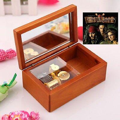 Sankyo Heart Wooden Jewelry Music Box ♫  Pirates of the Caribbean Davy Jones ♫