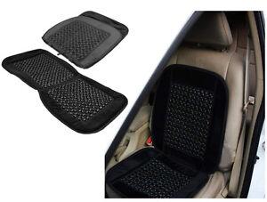 Grano de madera negra con cuentas masaje masaje coche furgoneta taxi Cojín Cubierta de asiento delantero