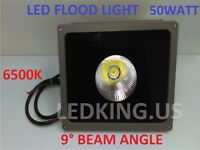 Led Flood Light 50watt 6500k 9°/15°/90° Beam Angles Yard Garden Outdoor Spotligh