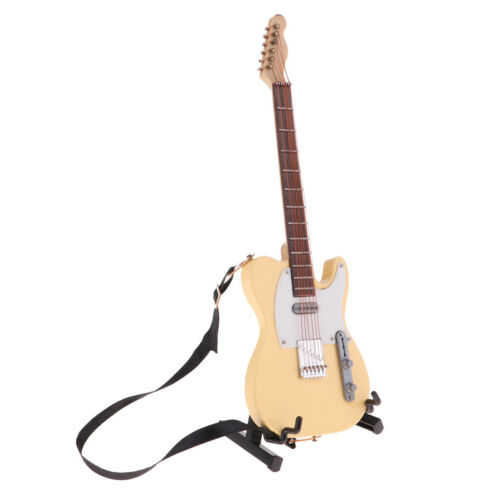 Handmade Wooden Guitar Model for 1//6 Action Figures Xmas Gifts Toys Beige
