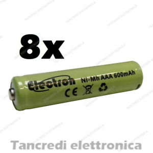 8x-Pila-batteria-ministilo-mini-stilo-ricaricabile-AAA-nimh-600mAh-1-2V-ni-mh