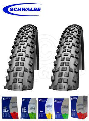 """Konstruktiv Schwalbe Rapid Rob Mtb Tyres/tires - 26"""", 27.5"""", 29"""" (54-559 - 57-622) + Tubes Kaufen Sie Immer Gut"""
