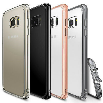 Galaxy S7 Edge Case, Ringke [FUSION] Shockproof Protective Raised Bezels Cover