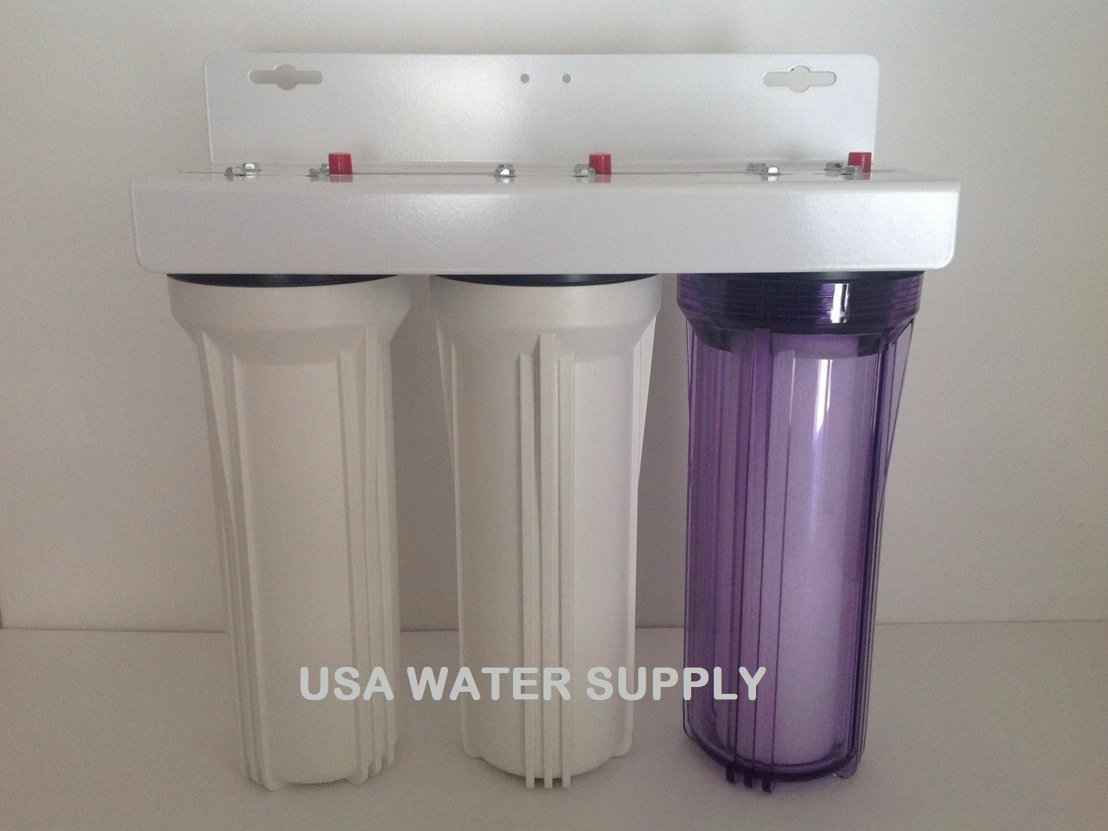 USA WATER 3 STAGE 10 10 10  X 2.5  3 4  PORT WHOLE HOUSE IRON MANGANESE WATER FILTER 13b350