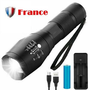 3000 Lumens 4 Modes  T6 LED 18650 Lampe de poche Lampe torche puissantes EP