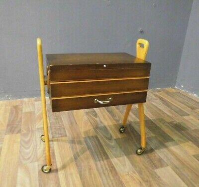 Nähkasten Nähbox Nähwagen Utensilo 50er 50s 60er 60s Design Vintage Sewing Box