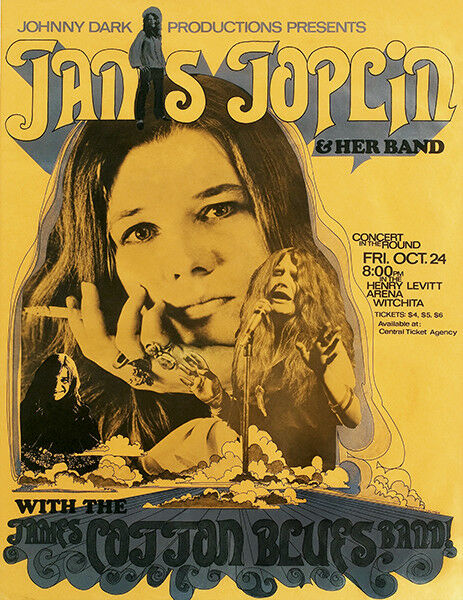 "Janis Joplin Live  Poster  24/""x36/"" maxi size"