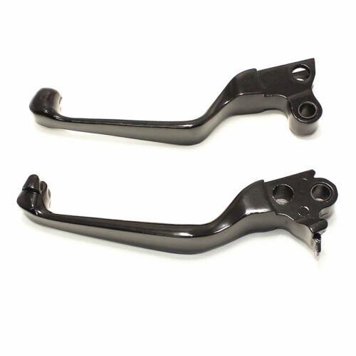 Pair Black Skull Brake Clutch Lever For Harley Dyna Sportster 1200 883 Softail