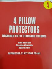 4PK Pillow Protectors Case Dust Mite Proof Pillow Guard Non Allergenic
