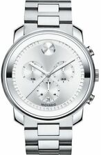 13e399cb4 Movado Bold Chronograph 44mm Silver Dial Men's Stainless Watch 3600276
