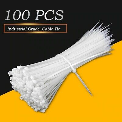 Business & Industrial 3x100mm Nylon Plastic Zip Wire Cable Ties ...