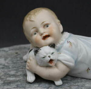 PERFECT-SIZE-039-HEUBACH-039-ANTIQUE-FIGURINE-WITH-DOG