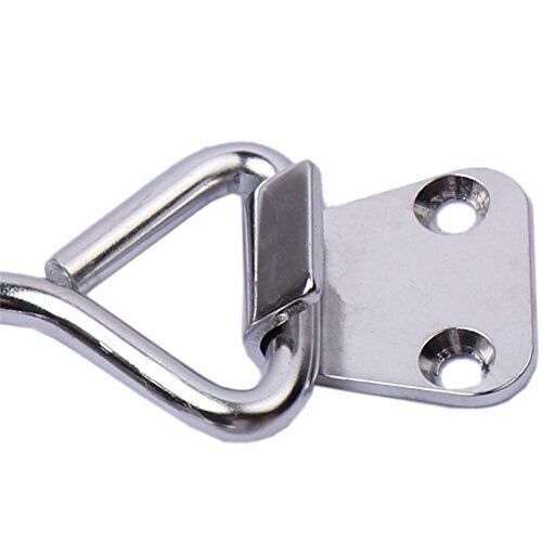 2pcs Adjustable Tension Air Tight Lock Stainless Steel Strong Hold Down Clamp