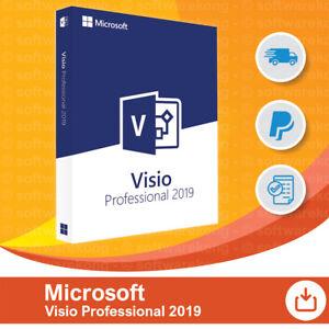 Microsoft Visio 2019 Professionnel, Liftetime & Mises à Jour, Original-al Fr-fr Afficher Le Titre D'origine Sensation Confortable