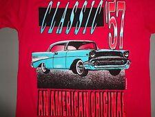 Vintage Sun 50-50 American Original Classic 57 1957 Chevy Cars t shirt M EXCEL