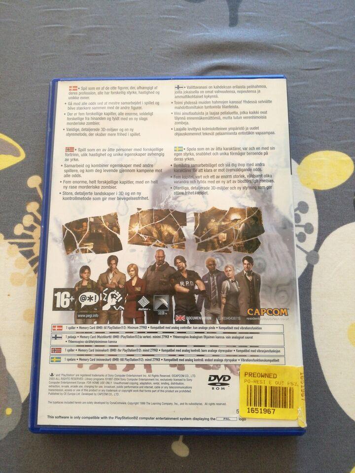 Resident evil Outbreak, PS2