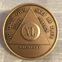 Alcoholics Anonymous 45 Year Recovery Coin Chip Medallion Medal Token AA Bronze