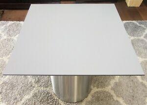 HPL Platte Tischplatte 8mm Mid Grey beidseitig 780 x 714 mm TRESPA® Meteon®