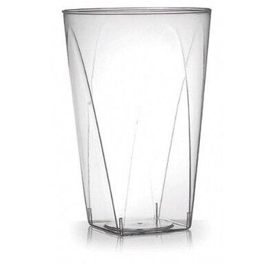 200 ct. 10 oz. SQUARE BOTTOM  HEAVY-DUTY DISPOSABLE PLASTIC TUMBLER CUPS #410SB