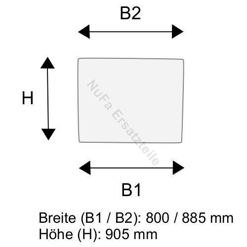 3504379000 Frontscheibe für Linde H12 H16 H18 H20 BR 350-03 Gabelstapler