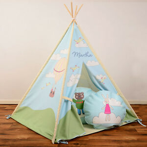 Image is loading Personalised-Children-039-s-Kids-Teepee-Wigwam-Tipi- & Personalised Childrenu0027s Kids Teepee Wigwam Tipi Florence The Rabbit ...