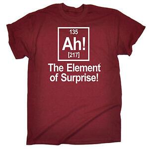 Ah-Element-Of-Surprise-T-SHIRT-Tee-Geek-Nerd-Joke-Science-Gift-birthday-funny