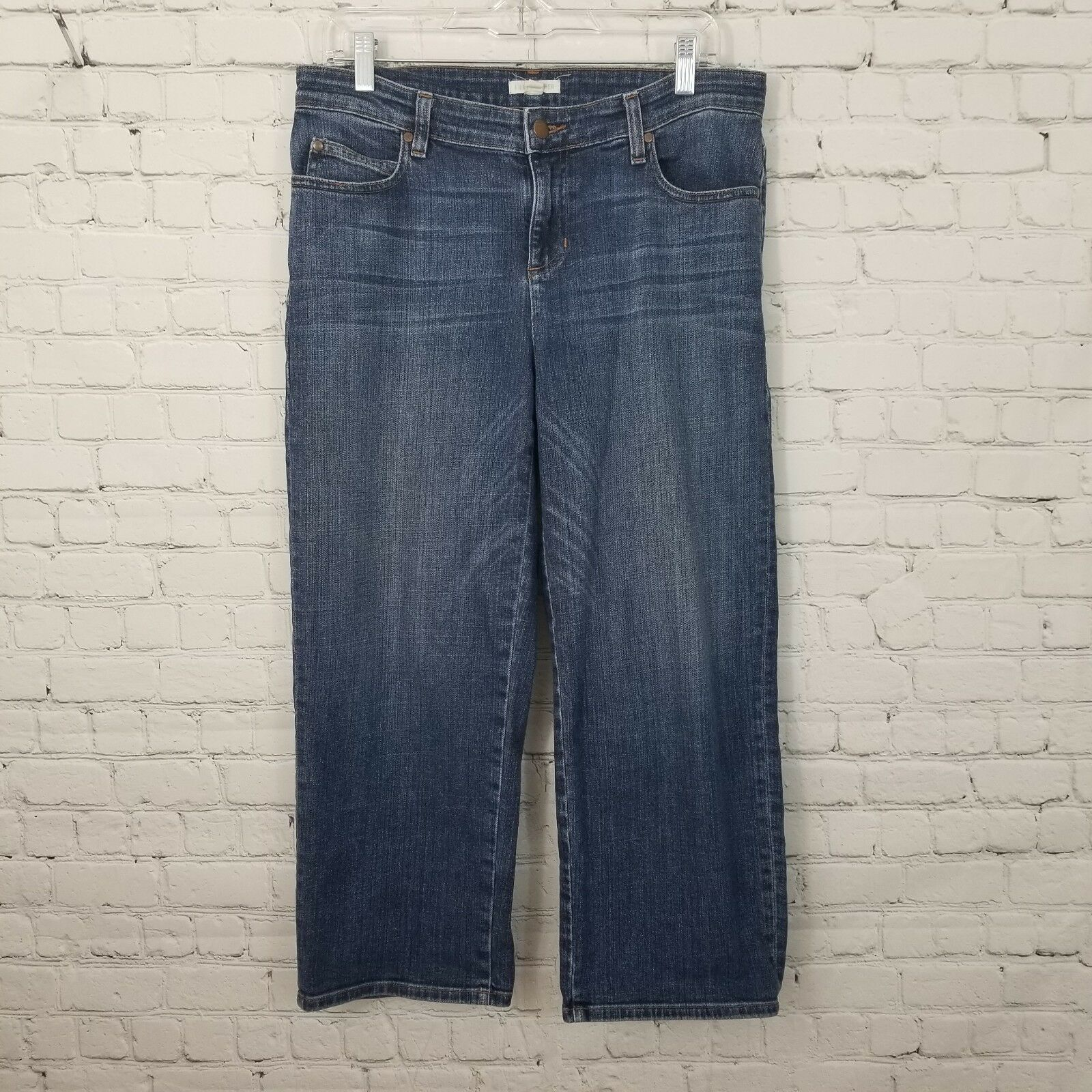 Eileen Fisher Cropped Jeans Size 8 bluee