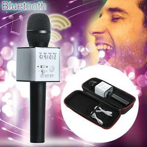 NEW-Q9-Wireless-Bluetooth-Karaoke-MicrophoneSpeaker-KTV-Effect-USB-Player-Black