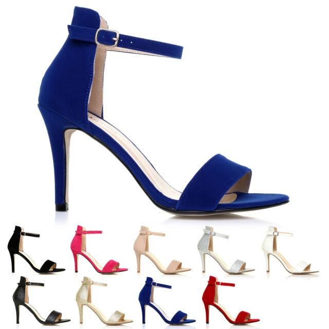 16a3a546fde Pam Black Suede Ankle Strap Barely There High Heel Sandals UK 8 EU ...