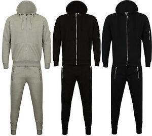 NUOVA-linea-uomo-Skinny-Tuta-Pantaloni-Sportivi-Set-Felpa-con-Cappuccio-Slim-Fit-Tuta-Jogging