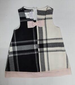 52ff741db304 Iris   Ivy Baby Girls Black   White Jumper Dress Size 12 Months