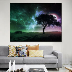 Details About Frameless Fantasy Tree Canvas Wall Art Paintings Decor For Home Office