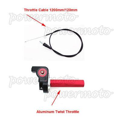 1//4 tour cnc aluminium twist throttle cable pour honda cr 80 85 125 250 dirt bike