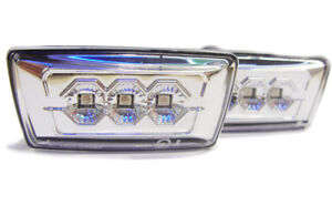 For-Vauxhall-Corsa-D-06-Crystal-Chrome-Clear-LED-Side-Repeaters-Opel