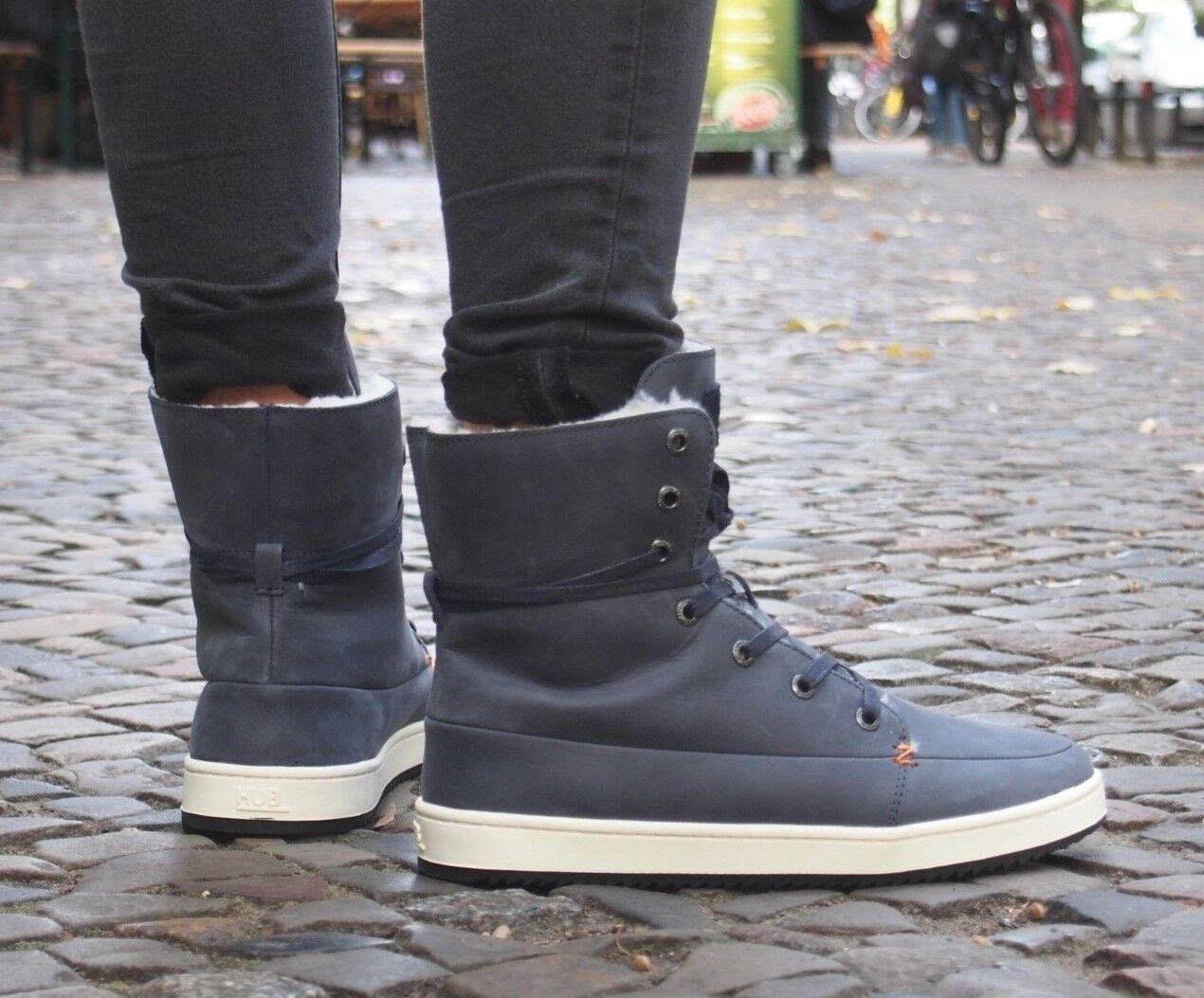 HUB Footwear Schuh Vermont 2. dark navy blau Stiefelette gefüttert Echtleder NEU