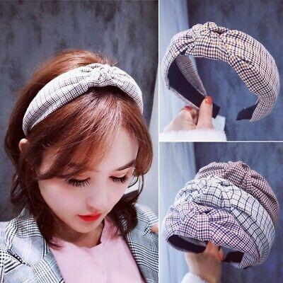 Fashion Simple Women Headband Twist Hairband Sweet Girl Cross Tie Hair Band Hoop