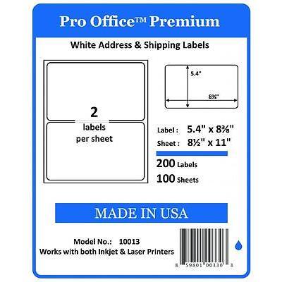 200 Pro Office Round Corner Self Adhesive Premium Shipping Labels 8.5 x 11 eBay