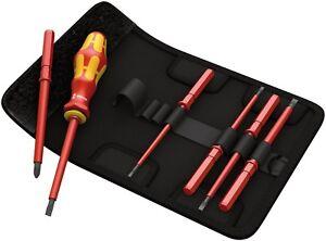 wera tool screwdriver kk vde 1000v insulated electrician interchangeable set 7pc 4013288106582. Black Bedroom Furniture Sets. Home Design Ideas