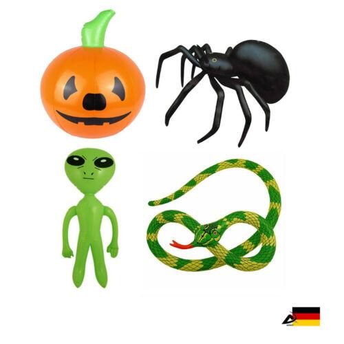 Aufblasbare HALLOWEEN deko Moto Mitgebsel Schlange Kürbis Spinne Alien ABAV