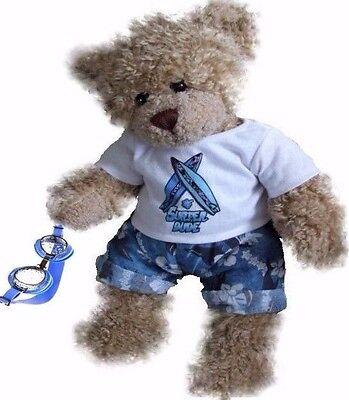 Teddy Bear Clothes fits Build a Bear Blue Surfer Swim Goggles Teddies Clothing