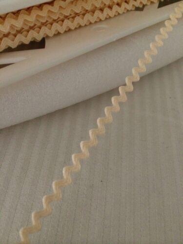 Mini Ric Rac Braid Trim 5mm Cream By The Meter Made in USA