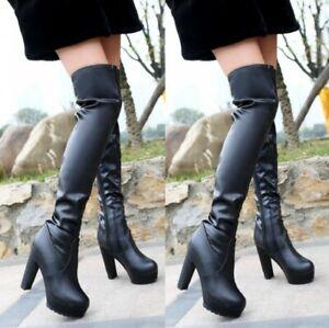 Womens Round Toe Block Heel Zip Up