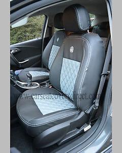 VAUXHALL OPEL ASTRA J BLACK & GREY CAR SEAT COVERS | eBay