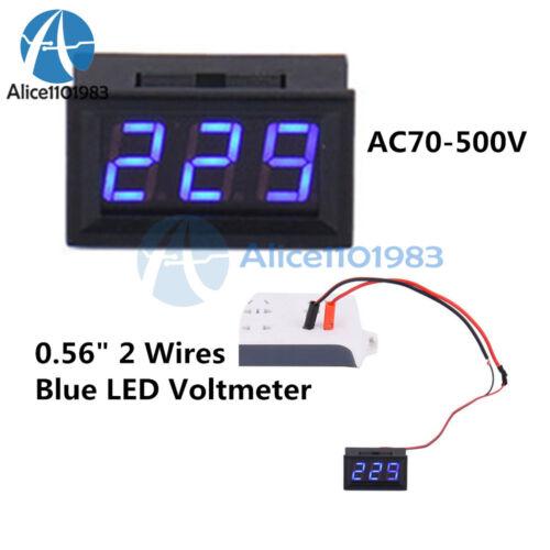 """Blue 2 Wire 0.56/"""" DC 5V~120V Voltmeter 3 Digital LED Voltage Volt Meter for Car"""